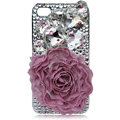 Flower Bling S-warovski crystal case for iPhone 4G