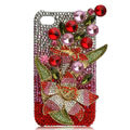 Flower Bling S-warovski crystal case skin for iPhone 4G