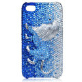 Lion Bling S-warovski crystal cases covers for iPhone 4G