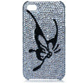 Bling Butterfly crystal cases covers for iPhone 4G - black