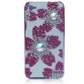 Bling Flowers crystal cases covers for iPhone 4G - Rose