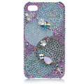 Bling Olympic Ring S-warovski crystal cases covers for iPhone 4G