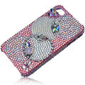 Bling Olympic Ring S-warovski crystal cases skin for iPhone 4G