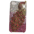 Bling Peacock S-warovski crystal cases Covers for iPhone 4G - Red