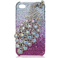 Bling Peacock S-warovski crystal cases covers for iPhone 4G - Pink