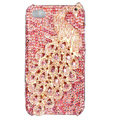 Bling Peacock S-warovski crystal cases covers for iPhone 4G - Rose