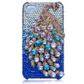 Bling Peacock S-warovski crystal cases for iPhone 4G - Blue