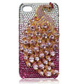 Bling Peacock S-warovski crystal cases for iPhone 4G - Pink