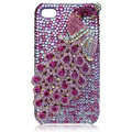 Bling Peacock S-warovski crystal cases for iPhone 4G - Rose