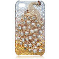 Bling Peacock S-warovski crystal cases for iPhone 4G - yellow