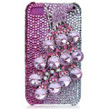 Bling Peacock S-warovski crystal cases skin for iPhone 4G - Pink
