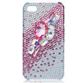 Bling S-warovski crystal cases covers for iPhone 4G - pink
