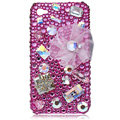 Bling S-warovski crystal cases covers for iPhone 4G - rose