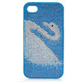 Bling White Swan S-warovski crystal cases for iPhone 4G