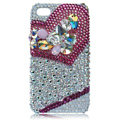 S-warovski Bling crystal cases covers for iPhone 4G - rose