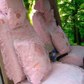 Bud silk Lace Car Seat Covers Cushion sets - Pink