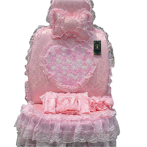 NAMEBud Silk Lace Satins Car Seat Covers Sets