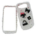 Bowknot Flower ice cream cake case for Nokia E71 E72 - White