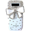 Butterfly bling crystal case for Nokia E71 E72 - White