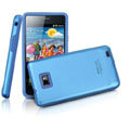 IMAK Slim Metal Silicone Cases Covers for Samsung i9100 GALAXY SII S2 -Blue