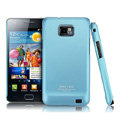 IMAK Ultra-thin Scrub color cases covers for Samsung i9100 GALAXY SII S2 - Blue