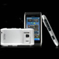 IMAK Slim Scrub Silicone hard cases Covers for Nokia N8 - Silver