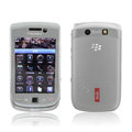 IMAK Slim Scrub Silicone hard cases Covers for Blackberry Touch 9800 - White