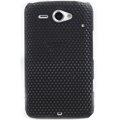 ECBOZ Slim Scrub Mesh Silicone Hard Cases Covers For HTC Chacha A810e G16 - Black