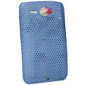 ECBOZ Slim Scrub Mesh Silicone Hard Cases Covers For HTC Chacha A810e G16 - Blue
