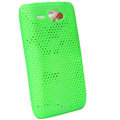 ECBOZ Slim Scrub Mesh Silicone Hard Cases Covers For HTC Chacha A810e G16 - Green