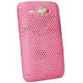 ECBOZ Slim Scrub Mesh Silicone Hard Cases Covers For HTC Chacha A810e G16 - Pink