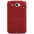 ECBOZ Slim Scrub Mesh Silicone Hard Cases Covers For HTC Chacha A810e G16 - Red