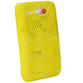 ECBOZ Slim Scrub Mesh Silicone Hard Cases Covers For HTC Chacha A810e G16 - Yellow