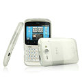 IMAK Ultra-thin Scrub Transparency cases covers for HTC Chacha A810e G16 - White