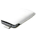 Imak Holster Leather sets Cases Covers for HTC Chacha A810e G16 - White