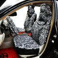 Leopard Universal Car Seat Covers Cotton - Black