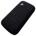 Slim Scrub Mesh Silicone Hard Cases Covers For Samsung i569 S5660 Galaxy Gio - Black