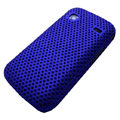 Slim Scrub Mesh Silicone Hard Cases Covers For Samsung i569 S5660 Galaxy Gio - Blue
