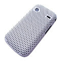 Slim Scrub Mesh Silicone Hard Cases Covers For Samsung i569 S5660 Galaxy Gio - White