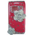 Bling Flowers Crystals Hard Cases Covers For Nokia N8 - Pink