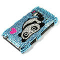 Bling Panda Crystals Hard Cases Covers For Nokia N8 - Blue