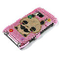 Bling Panda Crystals Hard Cases Covers For Nokia N8 - Pink