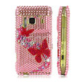 Bling butterfly Crystals Hard Cases Covers For Nokia N8 - Pink