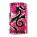 Bling Crystals Hard Cases Covers For Sony Ericsson X10i - Pink