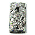 Bling Crystals Hard Cases Covers For Sony Ericsson X10i - White