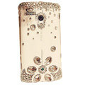 Bling Diamond Crystals Hard Cases Covers For Sony Ericsson X10i - White