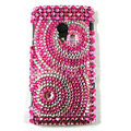 Bling Diamond Crystals Hard Cases For Sony Ericsson X10i - Pink