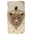 Bling Leopard head Crystals Hard Cases Covers For Sony Ericsson X10i