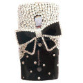 Bling bowknot Crystals Hard Cases Covers For Sony Ericsson X10i - Black
