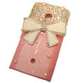 Bling bowknot Crystals Hard Cases Covers For Sony Ericsson X10i - Pink